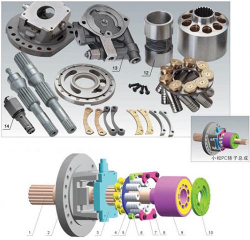 HPV35 HPV55 HPV90 HPV160 Komatsu Hydraulic Pump Parts