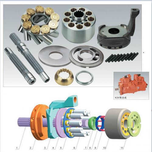 Kawasaki Hydraulic Pump Parts K3VG63 K3VG112 K3VG180 K3VG280