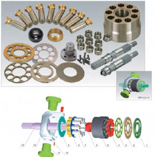 Hydraulic Pump Parts Caterpillar SPV1010 MS180SPK1010 E200B